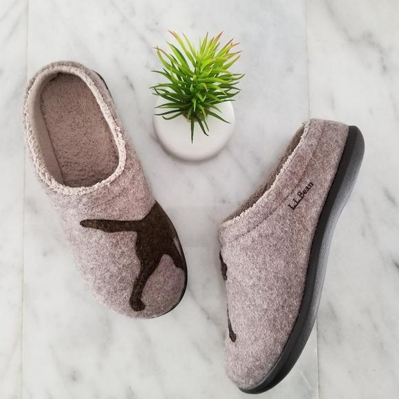 0af4fd937b92d6 L.L. Bean Shoes - LL Bean Slippers Women s Daybreak Scuffs Dog Motif